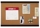 Quartet Cork Bulletin Board, 2' x 3', Mahogany Finish and Aluminum Frame, ELANB2436A
