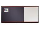 Quartet Connectables Modular System, Magnetic Porcelain Whiteboard, 4' x 4', Mahogany Frame, MB04P2