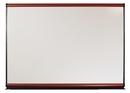 Quartet Connectables Modular System, Magnetic Porcelain Whiteboard, 6' x 4', Mahogany Frame, MB06P2