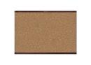 Quartet Prestige 2 Magnetic Cork Bulletin Board, 3' x 2', Mahogany Finish Aluminum Frame, MC243MP2