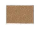 Quartet Prestige 2 Magnetic Cork Bulletin Board, 4' x 3', Silver Finish Aluminum Frame, MC244AP2