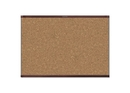 Quartet Prestige 2 Magnetic Cork Bulletin Board, 6' x 4', Mahogany Finish Aluminum Frame, MC247MP2