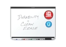 Quartet Prestige 2 DuraMax Porcelain Magnetic Whiteboard, 6' x 4', Black Frame, P557BP2