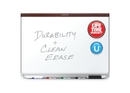 Quartet Prestige 2 DuraMax Porcelain Magnetic Whiteboard, 6' x 4', Mahogany Finish Frame, P557MP2