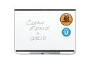 Quartet Prestige 2 Total Erase Magnetic Whiteboard, 4' x 3', Black Aluminum Frame, TEM544B