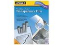 Apollo Plain Paper Copier Film Without Stripe, Black-&-White, 100 Sheets, VPP100CE-A