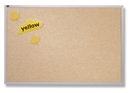 Quartet Vinyl Tack Bulletin Board, 3' x 4', White Vinyl with Aluminum Frame, VTA304W