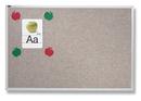 Quartet Vinyl Tack Bulletin Board, 4' x 4', Gray Vinyl with Aluminum Frame, VTA404G