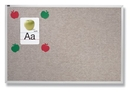 Quartet Vinyl Tack Bulletin Board, 4' x 12', Gray Vinyl with Aluminum Frame, VTA412G