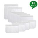 Aspire 10Pack Reusable Storage Bags, Ziplock Leakproof Bag Freezer Safe for Kitchen&Home Organization
