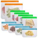 Aspire Reusable Storage Bags, Multicolor Leakproof Bags Freezer Safe for Kitchen Organization