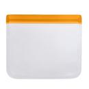 Aspire Reusable Silicone Ziplock Leakproof Storage Bags, 6''X6''