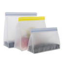 Aspire Stand Up Reusable Ziplock Storage Bags Freezer Free for Food, 9.45'' X 8.66'' X 2.76'', Clear