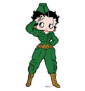 Advanced Graphics 148 Betty Boop Soldier - 68