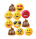 Advanced Graphics 2812 Emoji Heads (Set of 11), 11 each approx 14
