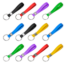 GOGO 60 PCS Silicone Bracelet Keychains Rubber Wrist Bands Key Rings Great Party Favors