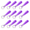 Aspire 60 PCS Silicone Bracelet Keychains, Rubber Wrist Band DIY Key Ring Party Favors - Purple