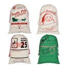 Aspire 10 PCS Christmas Giant Canvas Drawstring Bags Reusable Grocery Shopping Bag Gift Storage