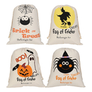 Aspire 10 PCS Halloween Drawstring Bags Cotton Canvas Gift Sack Treat Goodie Bag Party Favors