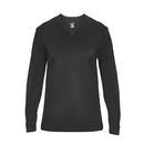 Badger Sport 4064 - Ultimate V-Neck Ladies L/S Tee