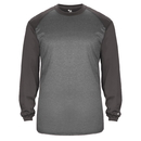 Badger Sport 430500 Sport Heather Tonal L/S Tee