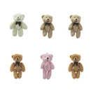 GOGO 3 Inch Stuffed Plush Teddy Bear, Pack Of 6, Valentine's Gift Idea