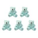 GOGO 5 Inch Stuffed Plush Teddy Bear, Blue, Pack Of 5, Valentine's Gift Idea