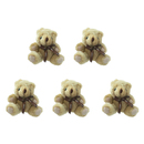 GOGO 5 Inch Stuffed Plush Teddy Bear, Brown, Pack Of 5, Valentine's Gift Idea