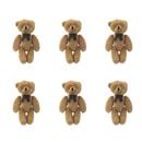 GOGO 3 Inch Stuffed Plush Teddy Bear, Coffee, Pack Of 6, Valentine's Gift Idea