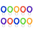Aspire 50 PCS Stretchable Plastic Bracelet Wrist Coils, Spiral Wrist Band Key Ring Key Holder