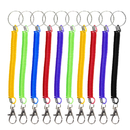 Aspire 20PCS Stretchy Spring Coil Cord Straps Key Chains with Lobster Clasp