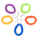 Aspire 100 PCS Wrist Coil Keychains, Stretch Key Ring Elastic Band, Spiral Bracelet Assorted Colors
