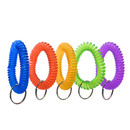Aspire 50 PCS Wrist Coil Key Holders Stretchable Bracelet Keychain Assorted Colors