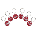 ASPIRE 200 Pieces Rim Metal Key Tag Set, Number Tag Key Ring (From 1 to 200)