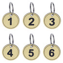 Aspire PACK of 50 Number Key Tags with Ring, ABS Numbered ID Tag Keychains