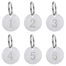 Aspire Numbered Key Chains Stainless Steel Number ID Tag with Ring