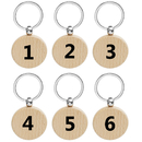 Aspire Wooden Numbered Key Chain, Number ID Tags Keyring