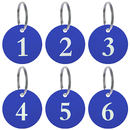 Aspire 50PCS Aluminum Alloy Numbered Key Chains, Door Locker Number ID Tags