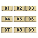 Aspire 25 PCS Door Numbers / Locker Numbers, Self-adhesive Tag