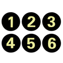 Aspire Acrylic Locker Number Signs Self-adhesive Tag