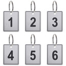 Aspire 50 PACK Plastic Number Keychains Numbered ID Tags with Ring For Doors Lockers