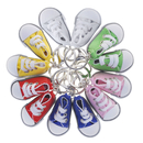 Aspire Pair of Canvas Sneaker Keychains 2 Inch Shoe Funny Key Ring Party Gift