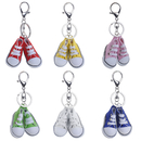 Aspire 12 Paris Canvas Sneaker Keychains, 2 Inch Lovely Shoeswith Key Ring, Party Favors