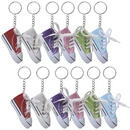 Aspire Canvas Sneaker Keychains Novelty Shoe Key Ring Party Favors Assorted Colors