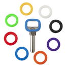 Aspire Key Caps Covers Tags, Silicone Assorted Key Identifier Coding Rings in 8 Colors