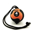 Aeromat 34520 Power Rope Medicine Ball - 4 Lb Black / Orange