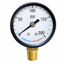 Interstate Pneumatics G2012-200 200 PSI 2 Inch Diameter 1/4 Inch NPT Bottom Mount Pressure Gauge