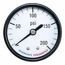 Interstate Pneumatics G2112-200 200 PSI 2 Inch Diameter 1/4 Inch NPT Rear Mount Pressure Gauge