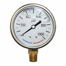 Interstate Pneumatics G7022-1000 Oil Filled Pressure Gauge 1000 PSI 2-1/2 Inch Dial 1/4 Inch NPT Bottom Mount