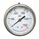 Interstate Pneumatics G7122-1500 Oil Filled Pressure Gauge 1500 PSI 2-1/2 Inch Dial 1/4 Inch NPT Rear Mount